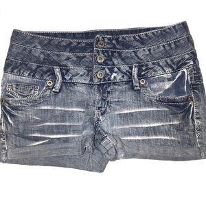 Amethyst High Waist Jean Shorts Juniors 7